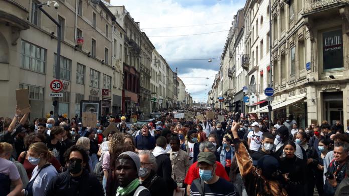 Manifestation Black lives Matter à Nancy violences policières
