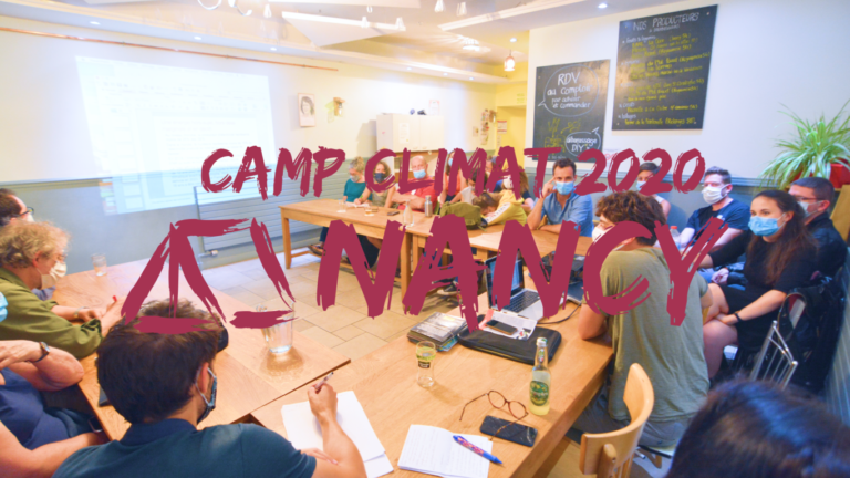 Camp Climat Nancy 2020 : une semaine pour s'informer et se former dans l'action climatique