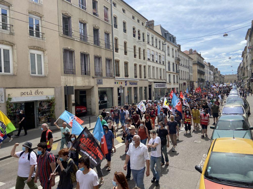Manifestation contre les idées d'extrême droite à Nancy